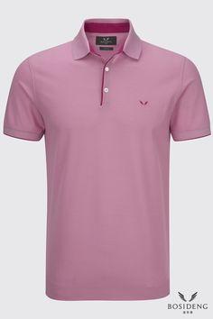 www.bosidenglondon.com Plain Polo Shirts, Mens Polo T Shirts, Golf Shirts, Camisa Polo, Fashion Details, Men's Fashion, Polo Shirt Design, Men Ties, Men's Polo