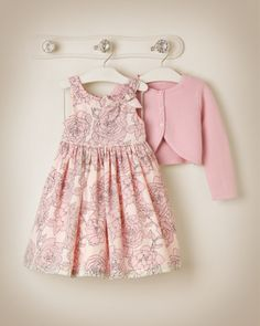 Janie and Jack 2015 Parisian Blush Pirouette Petals Rose Print Dress Little Girl Outfits, Little Girl Fashion, Little Girl Dresses, Kids Outfits, Kids Fashion, Girls Dresses, Cute Outfits, Baby Annabell, Mode Rose
