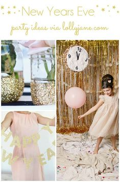 A collection of New Years Party Ideas including decor, crafts and more to use for your next New Years Party. { lollyjane.com } #newyears