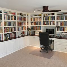 built in office cabinets