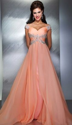 Peach Pageant Dress