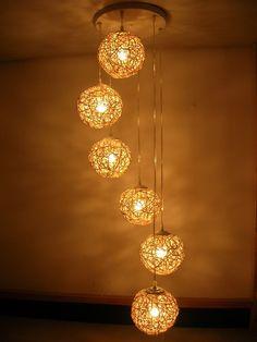 Specials spiral lights pastoral chandelier staircase chandelier bar decorative lighting bedroom chandelier restaurant lighting staircase lights-ZZKKO