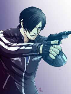 virus desenho Resident Evil Leon S. Leon S Kennedy, Resident Evil Anime, E Claire, Evil World, Evil Art, Batman Comics, Video Game Characters, Japanese Artists, Pictures To Draw