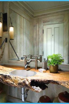 29 Stunning DIY Rustic Bathroom designs you should create for your home decor Rustic Bathroom Decor Design No. Rustic Bathroom Lighting, Rustic Bathroom Designs, Rustic Bathroom Vanities, Bathroom Plans, Rustic Bathrooms, Bathroom Ideas, Bathroom Furniture, Bathroom Sinks, Bathroom Cabinets
