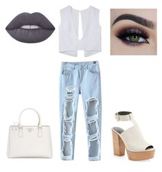 """SHOPPING LOOK"" by peleg-maayan on Polyvore featuring Chicnova Fashion, Rebecca Minkoff, Lime Crime and Prada"