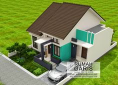 Three Bedroom House Design in 150 Sq. Bungalow House Plans, Small House Plans, Minimalis House Design, Latest House Designs, Independent House, Three Bedroom House, Minimalist Home, My Dream Home, Exterior Design