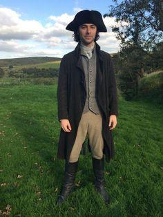 .@masterpiecepbs #AidanTurner #handsome #Poldark #WinstonGraham #OnSet #Cornwall
