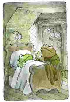 So Toad brought his best friend, Frog, some Illustration by Arnold Lobel. Art And Illustration, Frosch Illustration, Book Illustrations, Arnold Lobel, Frog Art, Frog And Toad, Little Doll, Vintage Children's Books, Illustrators