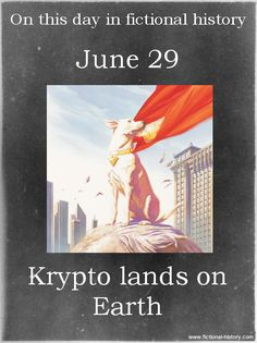 """""""Krypto lands on Earth."""" (Source)"""