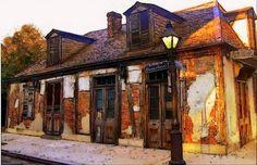 French Quarter Architecture Lafitte by twistedpixelstudio on Etsy, $15.00