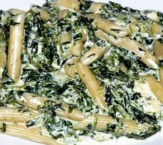 Penne cu spanac și gorgonzola
