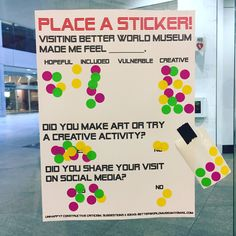 """Museum data from shows that visitors feel creative, make art, & share it on social media. Interactive Exhibition, Interactive Installation, Interactive Art, Ap European History, Promotion Tools, Museum Education, Sticker Ideas, Collaborative Art, Creative Activities"