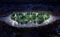 Cadê o legado? Árvores foram mostradas na cerimônia de abertura do Rio 2016