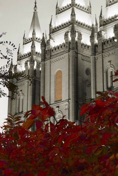 Beautiful view of Salt Lake Temple of the Church of Jesus Christ of Latter Day Saints