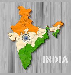 Tricolor indian flag map background for republic Vector Image Indian Flag, Map Background, Flag Photo, Single Image, Independence Day, Adobe Illustrator, Vector Free, Illustration, Diwali