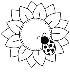 Riscos graciosos (Cute Drawings): Riscos de flores e plantas (Flowers and plants) Seed Bead Flowers, Beaded Flowers, Seed Beads, Glass Painting Designs, Paint Designs, Coloring Books, Coloring Pages, Cd Crafts, Flower Quilts