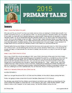 2015 Primary Talks (in case the assigned person doesn't show up or come prepared) Primary Talks, Lds Primary, Primary Music, Primary Activities, Church Activities, Lds Church, Church Ideas, Primary Singing Time, Primary Chorister