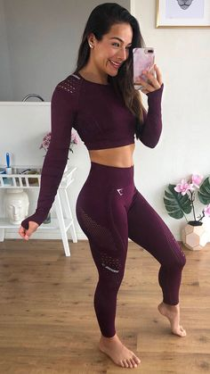 Cute Workout Outfits, Workout Attire, Womens Workout Outfits, Sporty Outfits, Athletic Outfits, Workout Wear, Fashion Outfits, Workout Girls, Gym Outfits