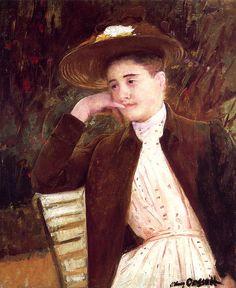 Celeste in a Brown Hat,  Mary Cassatt - circa 1891