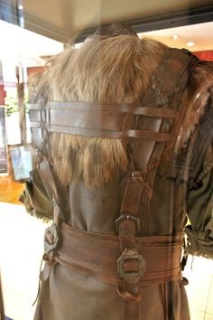 Dwalin's axe harness details. Back.