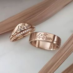 Simple Wedding Bands, Wedding Rings, Coordinate Rings, Moon And Star Ring, Ring Bearer Outfit, Promise Rings For Couples, Ring Tattoos, Engraved Rings, Ring Earrings
