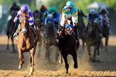 I'll Have Another edges Bodemeister by a head in a thrilling stretch run keeping alive the hope for a Triple Crown winner in 2012!