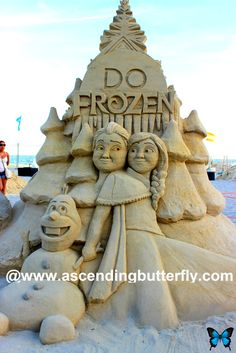 {#Travel} Frozen inspired Sand Sculpture at DO AC Sand Sculpting World Cup Atlantic City 2014