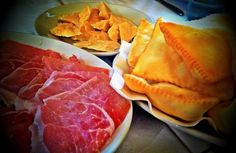 """Parma ham and Parmigiano Reggiano cheese with """"torta fritta"""" by @poohstraveler"""