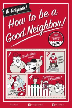 How to be a good neighbor!
