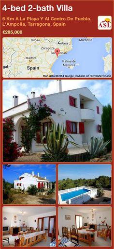 4-bed 2-bath Villa in 6 Km A La Playa Y Al Centro De Pueblo, L'Ampolla, Tarragona, Spain ►€295,000 #PropertyForSaleInSpain