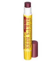 Burts Bees Lip Shimmer, Guava 0.09 oz (Pack of 4) Dickinsons Witch Hazel Cleansing Astringent, 2 Oz