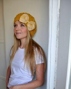 Marigold Bowjie Knit Hat