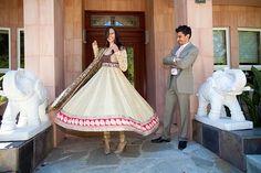 Twirling bride in Shymal & Bhumika