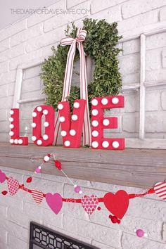 LOVE Valentine's Decor.