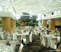 lace & burlap wedding reception decor