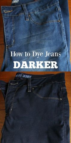 This post is about how to dye jeans darker BUT there are so many helpful tips and FAQ about dyeing fabric at home so it's worth pinning if you think you might try to dye some linens or drapes - or anything!