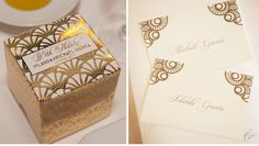 Our Muse - Australian Art-Deco Wedding: Iolanda & Michael - Be inspired by this Art-Deco-styled wedding in Australia - wedding, place cards #wedding