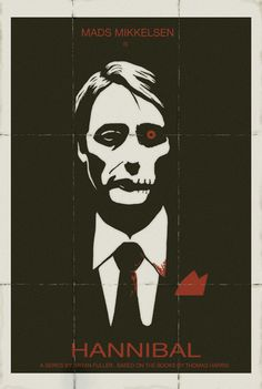 Hannibal 80's minimalist poster by ~lamech77 on deviantART, hannibal, minimalist poster