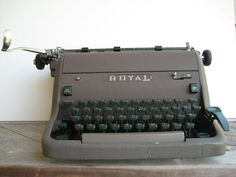Royal HH Typewriter  1950s Office  Brown & by LivingSimplyByDesign, $50.00