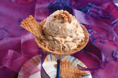 Pecan-Caramel Crunch Ice Cream - Homemade Ice-Cream Recipes - Southernliving. Praline lovers: This is your ice cream. Packed with crunchy bits of a homemade caramel crisp, this creamy mixture has a caramel flavor and caramel topping.  Recipe: Pecan-Caramel Crunch Ice Cream