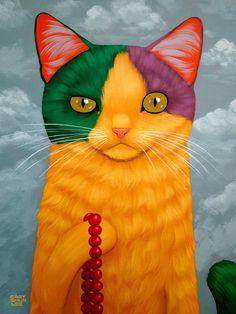 Mardi Gras Cat Art Print