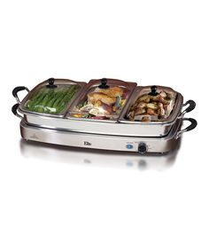 Look at this Elite Cuisine Elite Platinum Deluxe Three-Tray 2.5-Qt. Buffet Server on #zulily today!