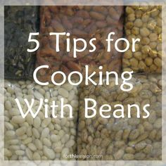 This is a Healthy Habits Link Up! Scroll down to link up your post. Beans are the main non traditional protein source in our diet. I cook a bean based dinner at least twice a week, and often three times. We eat leftover beans for lunch throughout the week. It took a bit of experimenting...Read More »