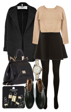 """""""Style #6566"""" by vany-alvarado ❤ liked on Polyvore featuring Burberry, Yves Saint Laurent, Silvian Heach, Dolce&Gabbana, FOSSIL, Topshop and Acne Studios"""