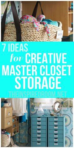7 Ideas for Creative Master Closet Storage – The Inspired Room – Diy Bathroom İdeas Closet Storage, Toy Storage, Bathroom Storage, Storage Ideas, Fridge Storage, Storage Units, Craft Storage, Master Bedroom Closet, Master Room