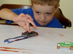 Toddler car painting