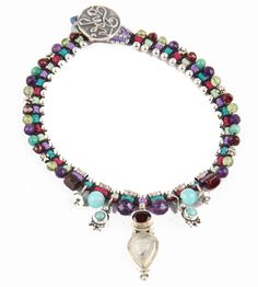 Isha Elafi Macrame Anklet with GemStones and Silver - Lovely work!