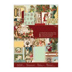A4 Ultimate Die-cut & Paper Pack (48pk) - Victorian Christmas