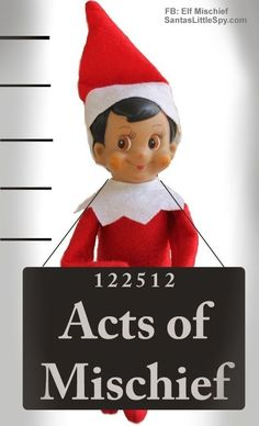Jailbird | 33 Genius Elf On The Shelf Ideas