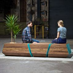 Boxcar Bench, 2015 by Zoe Blatter, Joe Gibson, Zoë Umholtz @revolutiondh via @contemporist #color #texture